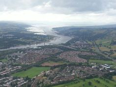 The Erskine Bridge over the river Clyde.........