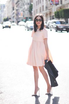 Dress (from Barney's Union Square) & Heels (from Neiman Marcus).