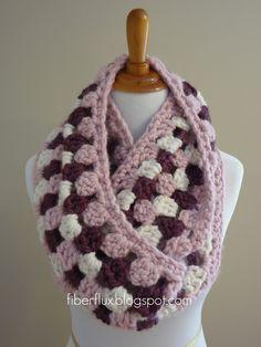 Fiber Flux...Adventures in Stitching: Free Crochet Pattern...Cherries In Bloom Infinity Scarf