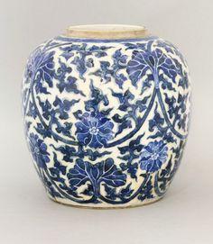 A Kangxi Period blue and white Jar