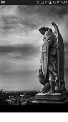 St. Michael. I want this statue for my next tattoo. It's gonna go on my left arm.
