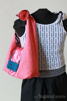Project Run & Play, April: Reversible & Adjustable Sling Bag | The Inspired Wren