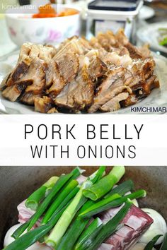 Here is the simplest way to cook pork belly (Sam-Kyup-Sal 삼겹살) Korean style. In Korean cuisine, pork belly is usually either boiled in water or cut into thin slices and grilled. #cooking #kimchimari #korean #koreanfood #recipes #koreanrecipe #asianfood #pork #porkbelly #boil #onions #meat