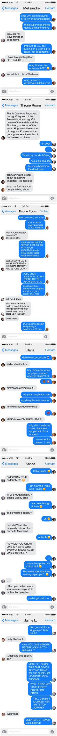 6 Text Convos Sum Up The Game Of Thrones Episode 3