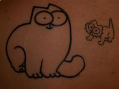 Simon's Cat - New tatoo