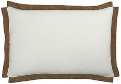 The Piper Collection Michelle 24x16 Cotton Pillow - Toffee