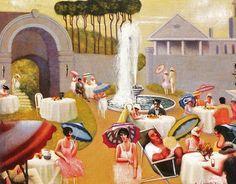 """Archibald John Motley Jr (1891-1981): """"LAWN PARTY""""."""