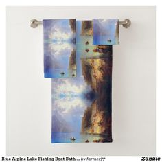 Make bath time more pleasurable by stocking up on Towel Bath bath towels, hand towels, and washcloths from Zazzle today! Spa Towels, Bathroom Towels, Fishing Boats, Fly Fishing, Fishing Store, Fishing Supplies, Alpine Lake, Bath Towel Sets, Fabric Covered