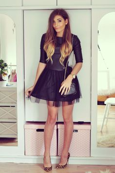 OUTFIT DEL DÍA: formal outfit black dress, Look formal con vestido...