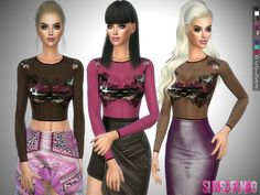 The Sims Resource: 238 - Transparent top by sims2fanbg • Sims 4 Downloads