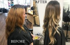 Incredible hair transformation done by our master stylist Chayla!