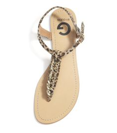 G by GUESS Jasmine Leopard Print Flat Sandal - Sporty and casual attire goes with this stylish and ultra comfy footwear.