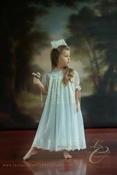 Gorgeous Abigail is modeling style 3001EB design by Mela Wilson Heirloom Children's Clothing. Email at mela.wilson2@comcast.net