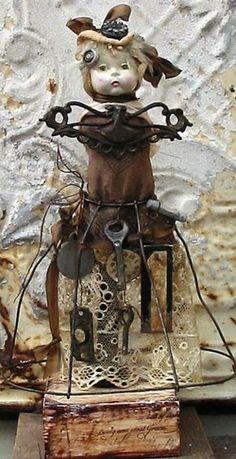 Ms. Found Objects - Amazing salvage dolls by JoAnna Pierotti