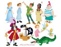 50 Neverland Digital Clipart / Cute Peter by SandyDigitalArt Peter Pan Images, Peter Pan Art, Peter Pan And Tinkerbell, Peter Pan Disney, Peter Pan Crocodile, Peter Pan Characters, Lost Boys Peter Pan, Peter Pan Quotes, Walt Disney
