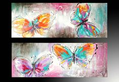 cuadros de mariposas - Buscar con Google Butterfly Painting, Butterfly Art, Butterflies, Diy Canvas, Canvas Wall Art, Beautiful Art Pictures, Acrilic Paintings, Small Paintings, African Art