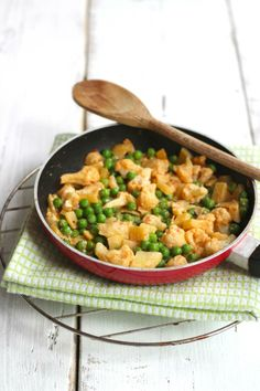 Bloemkoolcurry - Lekker en Simpel Veggie Recipes, Vegetarian Recipes, Cooking Recipes, Healthy Recipes, Veggie Food, Veggie Main Dishes, Happy Foods, Healthy Chef, No Cook Meals
