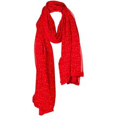 Vero Moda Fleck Scarf (41 BRL) ❤ liked on Polyvore featuring accessories, scarves, red, red shawl, red scarves and vero moda