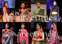 Designer full sleeves saree blouse patterns from LFW Winter/Festive 2013.