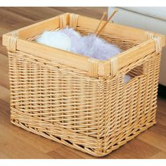 sturdy basket, could be used for bird food storage or pets supplies