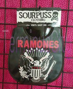 #SOURPUSS #RAMONES #BABY #VINYL #BIB #Music #Kids #Toddler #HeyHoLetsGo #GabbaGabbaHey #Eagle #BeatOnTheBrat #Punk #Sourpuss