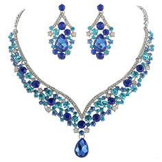EVER FAITH® Silver-Tone Austrian Crystal Elegant V-shaped Teardrop Necklace Earrings Set Blue EVER FAITH http://www.amazon.com/dp/B00PFF2JAO/ref=cm_sw_r_pi_dp_qeOexb0KVH65W