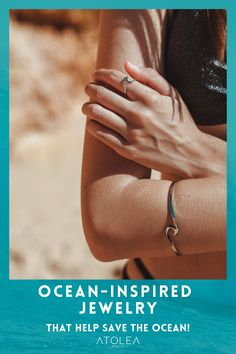 Seas the day with this combination. Beach wave ring and bracelet for ocean lovers! Find more ocean, beach and marine inspired jewelry at atoleajewelry.com. Free shipping worldwide!