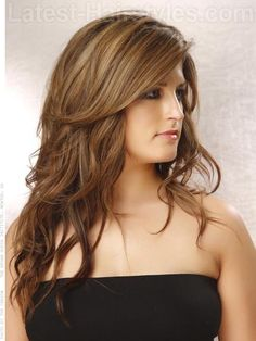 highlights for long straight hair (Hair color) Hairstyles For Round Faces, Latest Hairstyles, Pretty Hairstyles, Easy Hairstyles, Hairstyles 2016, Medium Hairstyles, Wedding Hairstyles, Haircuts For Long Hair With Layers, Long Layered Haircuts