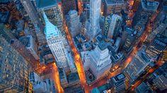 Global Gallery 'Aerial View of Wall Street' by Cameron Davidson Framed Photographic Print on Canvas Size: H x W x D Wall Street Posters, Wall Street News, Street Art, Street View, Beach Landscape, Urban Landscape, New York Photographie, Nebraska, New York Wallpaper