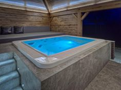 Gorgeous #teuco mirror 630 #outdoor #spa complimenting a recently completed indoor #pool by www.portraipools.com