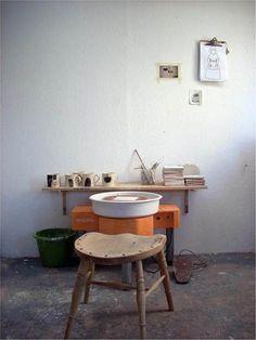 Peter Bodenham. Ceramic studio in West Wales Cardigan.