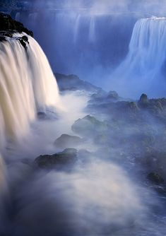 The Gates of Calypso, Iguazu Falls, Brazil Photo by Michael Anderson  ♥ ♥   www.paintingyouwithwords.com
