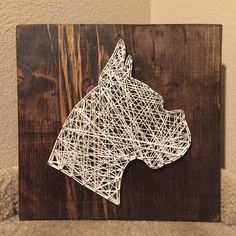 Dog Silhouette (head) String Art