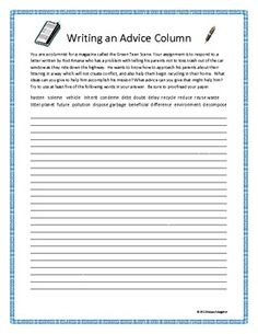 007 Writing Rough Draft Organizer for Expository and