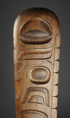 Detail from Scott Jensen Tlingit style shaman staff ⚪️🔹Inuit / Tlingit / Haida : More At FOSTERGINGER @ Pinterest   🔴🔹