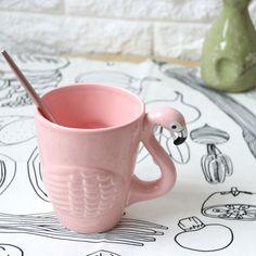 3D Animal Flamingos Bird Teapots Super Beauty Ins Girl Pink Ceramic Cute Animal Coffee Mug Tea Pot Cup Christmas Gift-in Mugs from Home & Garden on Aliexpress.com | Alibaba Group