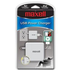 New - Maxell USB Charger - U75507 by Maxell. $12.19. General Information Manufacturer/Supplier: Maxell Manufacturer Part Number: 191224 Brand Name: Maxell Product Name: USB Charger Marketing Information: Connect any portable device with existing USB sync/charge cable Lightweight and compact design for portability Retractable Prongs LED Indicator Light Product Type: USB Charger Power Description Output Voltage: 5 V DC Miscellaneous Compatibility: Apple Products:...