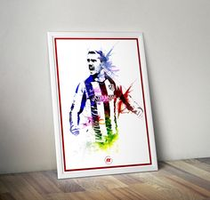 Antoine Griezmann Atletico Madrid A4/A3 Poster by FootyFX on Etsy