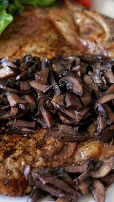 Pinot Noir Mushroom Reduction Sauce with Grilled T-Bone Steak