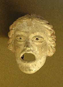Greek Courtesan Theater mask — Wikipédia Only men were actors and each actor often had to play many parts. Actors would play not only the male, but also female characters.