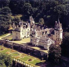 Chateau D Usse, France was the inspiration for the fairy-tale castle in Sleeping Beauty. Charles Perrault, the author of the popular tale, was so impressed he decided on this castle as the setting of his story.