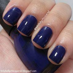 Baseball Nails: Sinful Colors Navy I Do