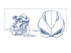Ducati 1199 Panigale design sketches - clean professional work