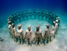 Underwater Sculpture Park. I want to visit this.
