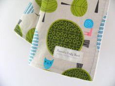 """Handmade ORGANIC eco-friendly blanket with loops in """"Hide n Seek"""""""