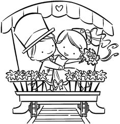 IMPRONTE D'AUTORE - STAMPING - PRODOTTI - TUTTO TIMBRI - 1851-U Sposini Wedding Coloring Pages, Coloring Book Pages, Coloring Pages For Kids, Coloring Sheets, Kids Table Wedding, Wedding With Kids, Free Adult Coloring, Paper Cards, Digital Stamps