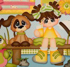 ELITE4U PMBY JULIE CHILD premade scrapbook pages 4 album paper piecing