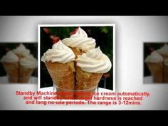 Commercial Soft Ice Cream Machine, Soft Ice Cream Maker, Frozen Yogurt Machine 12L perhour Single Fl