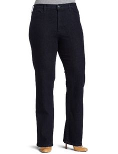 Not Your Daughter's Jeans Women's Plus-Size Marylin Straight Leg Jeans, Tonal Blue Black, 14W buy at http://www.amazon.com/dp/B004CRTZH6/?tag=bh67-20