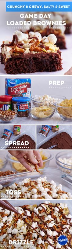Whip up some football brownies to cheer on the home team. Loaded with rich, chocolate flavor - these aren't your average desserts. Easy toppings like pretzels, popcorn and potato chips can make these brownies a fan favorite. Your family will love these sports-themed treats.